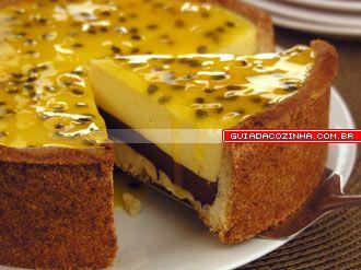 Receita de Torta de maracujá com chocolate