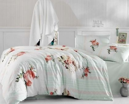 Купить постельное белье ALTINBASAK ULYA светло-зеленое 50х70 1,5-сп от производителя Altinbasak (Турция)