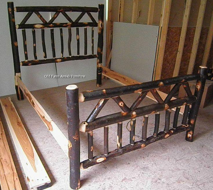 rustic log beds in Beds