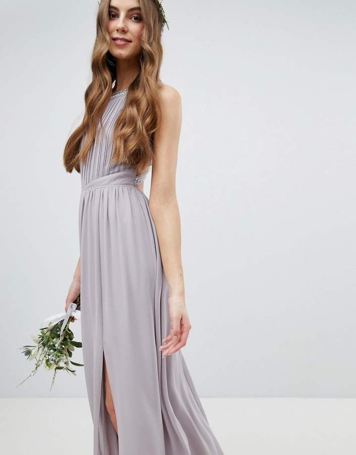 93297d32315 TFNC Tall Embellished Back Detail Maxi Bridesmaid Dress