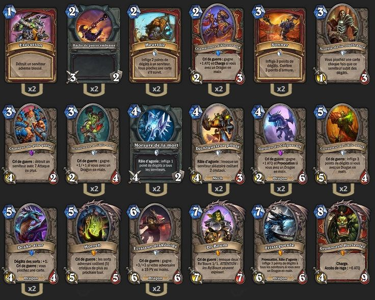 Deck Guerrier Dragon TGT JustSaiyan - Hearthstone : Heroes of Warcraft - Guerrier - War - Garrosh