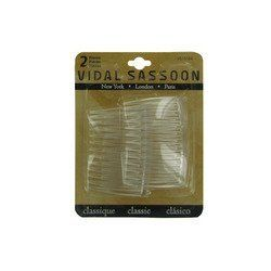 Vidal Sassoon 2 Piece Side Combs, Clear, Medium by Vidal Sassoon. $2.99. Package includes 2 combs. Medium Clear Tuck Combs hold hair firmly in place. Use to quickly create updos, pull back bangs, or to secure small pieces of hair. Size: medium. Color: clear. Medium clear tuck combs hold hair firmly in place. Use to quickly create updos, pull back bangs, or to secure small pieces of hair. Color: clear plastic. Size: medium. Package includes 2 combs.