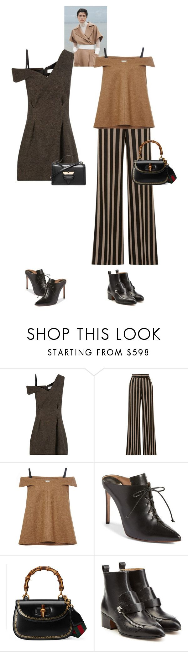 """Gwen & Peyton #8797"" by canlui ❤ liked on Polyvore featuring Ström, Isa Arfen, Etro, Francesco Russo, Gucci, Chloé and Loewe"