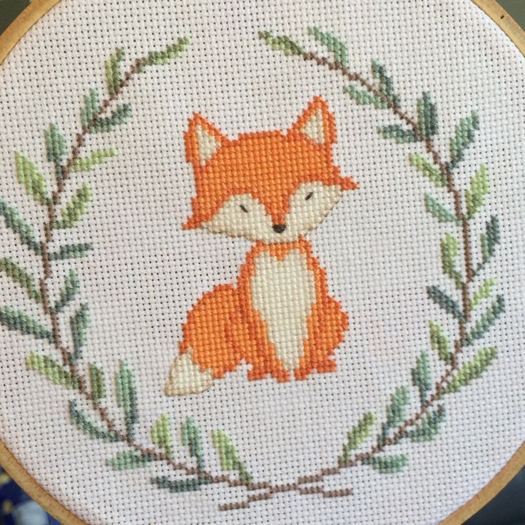 [FO] #3 of 3 woodland critters I'm stitching for my cousin's nursery!