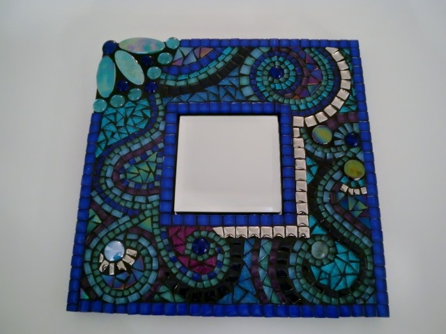 spiegel met glas mozaiek beautiful art mosaic