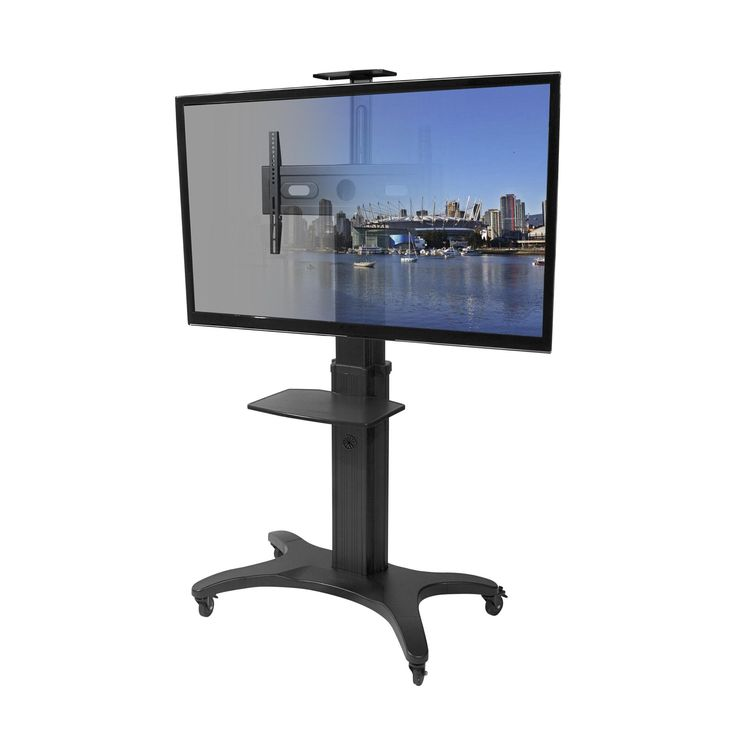 Kanto MTMA70PL Mobile TV Stand for 40-70 inch Flat Screen Displays – With Top Shelf and Adjustable Middle Tray