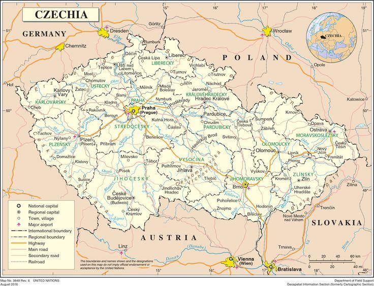 United Nations maps: Czechia  #maps #UnitedNations #Czechia