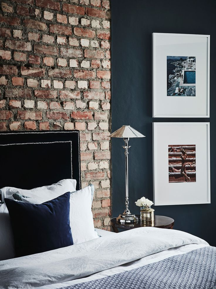 Best Exposed Brick In The Bedroom Small Cool Black Beauty In 400 x 300