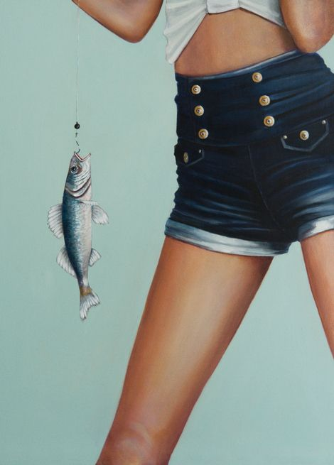 Al Mazzaglia, The fish take the bait on ArtStack #al-mazzaglia #art