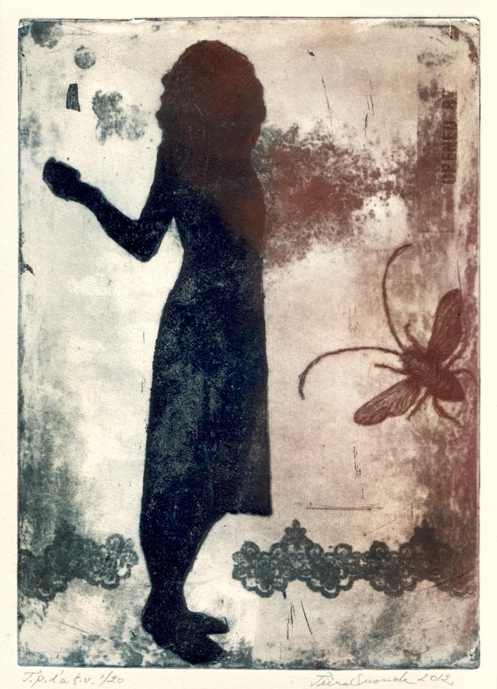 Soulburst / Dry point, aquatint, etching / Tiina M. Suomela