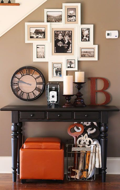 17 best ideas about hall table decor on pinterest entryway decor rustic entryway and console. Black Bedroom Furniture Sets. Home Design Ideas