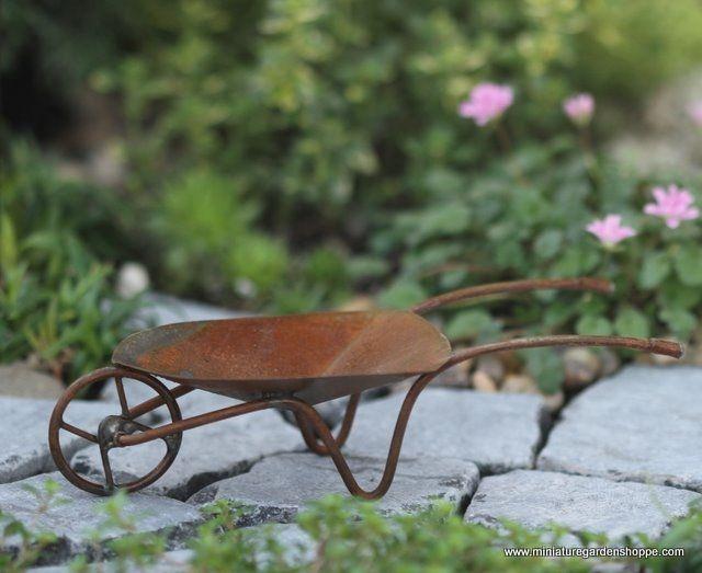 Traditional Wheelbarrow - Miniature Garden Shoppe