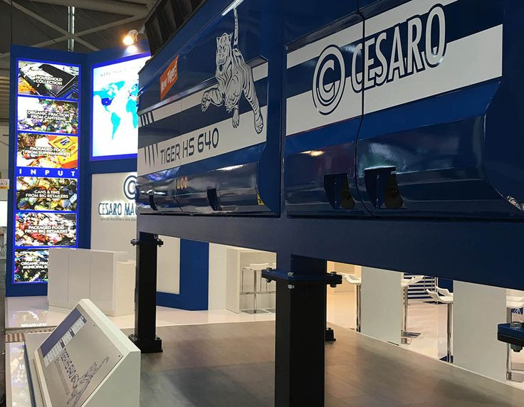 Tosetto fabricated the exhibition space of Cesaro Mac Import, leading company in environmental technologies sector, at IFAT Trade Fair 2016 in Munich.
