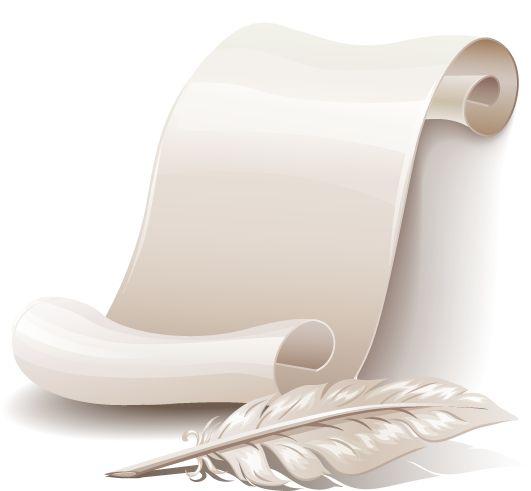 Antiguo pergamino y pluma, pero con estilo 2.0, imagen vectorial