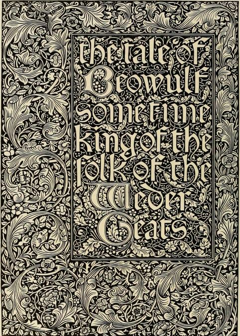 William Morris. Kelmscott Press. 'The Art of William Morris'by Aymer Vallance   Published 1897. https://archive.org/stream/artofwilliammorr00vall#page/n9/mode/2up