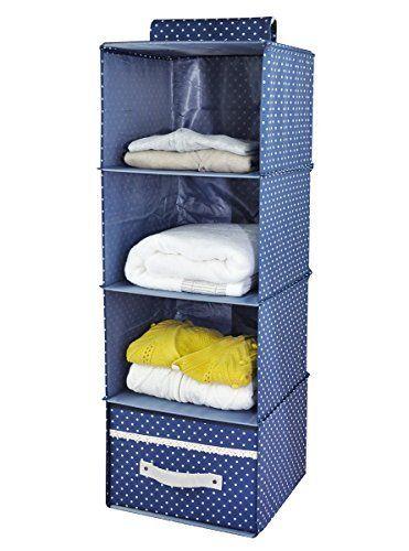 Nuova offerta in #cucina : 4-shelf Armadio Organizzatore con cassetto in legno spessore Boards All'interno Vestito per vestiti maglioni scarpe bagagli Navy Blue Dot a soli 1999 EUR. Affrettati! hai tempo solo fino a 2016-11-11 23:29:00