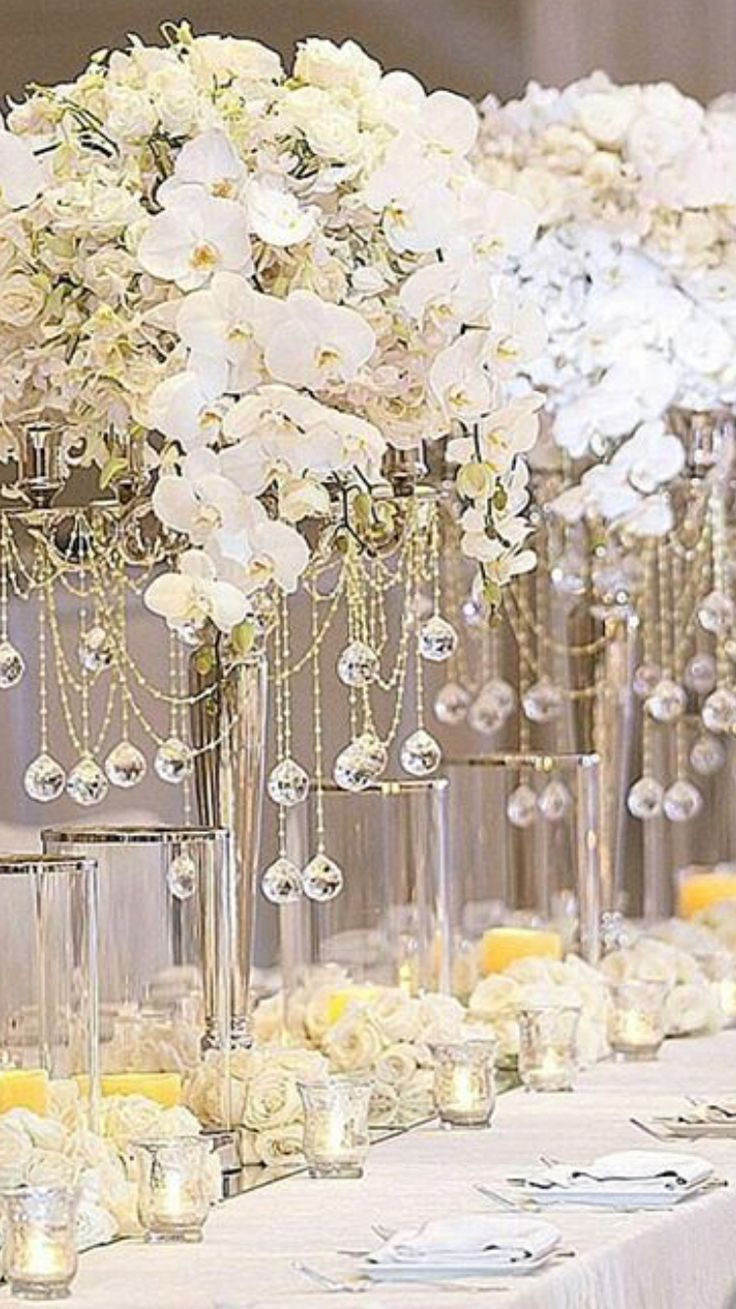 Best over the top tall wedding centerpieces images