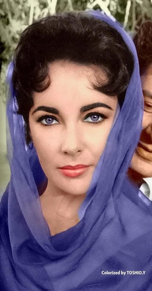 """colorisé-toshio: """"Elizabeth Taylor"""""""