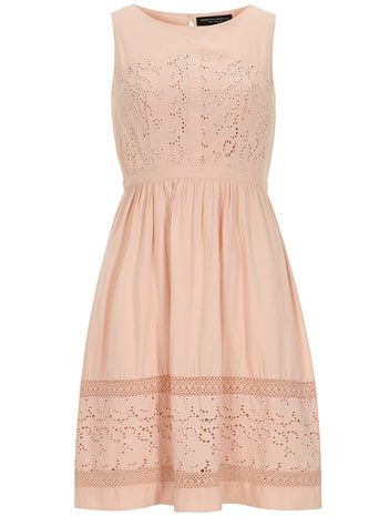 Coral Broderie Midi Dress - View All Dresses - Dresses