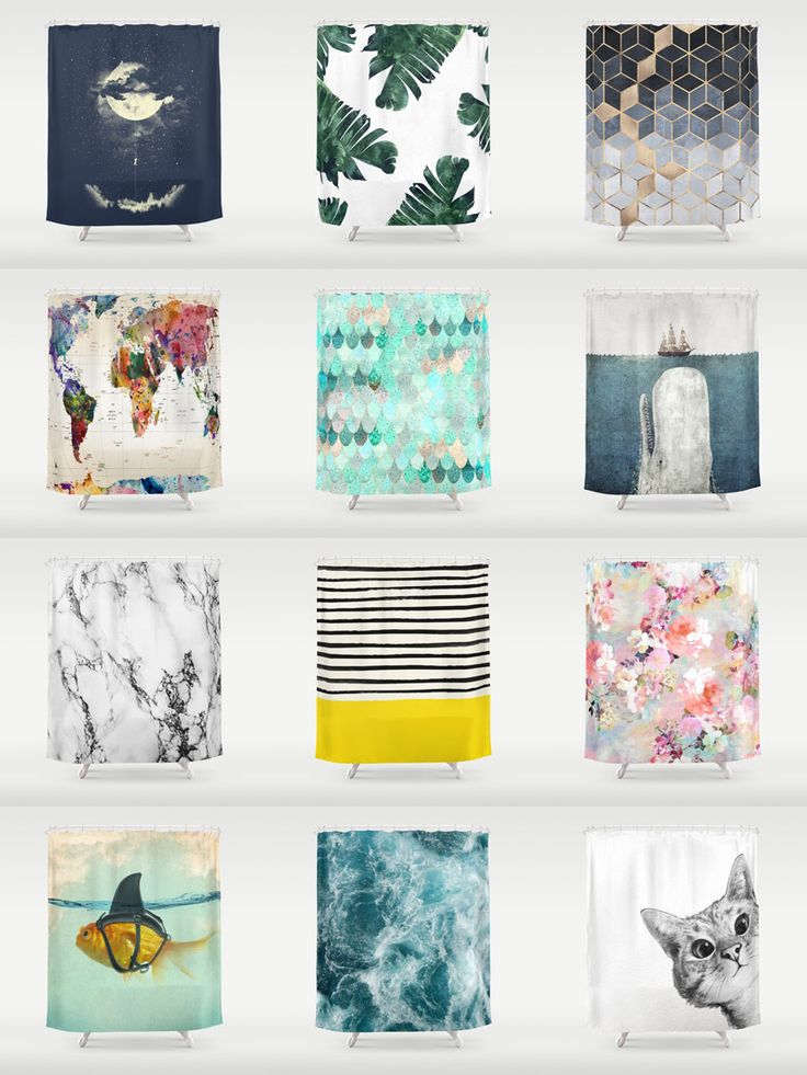 Society6 Shower Curtains - Add a bold statement to your bathroom with Society6 Shower Curtains. Want more? We also have bath mats and towels!