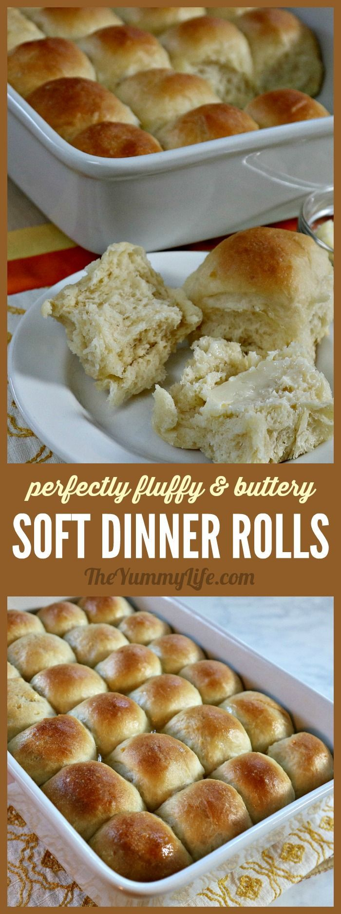 These soft, fluffy, buttery rolls are always a winner on the dinner table. Potato flakes give them a lighter texture. Can make ahead, let rise in fridge.