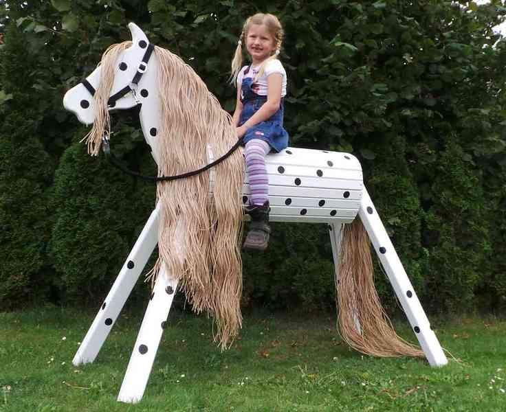 Holzpferd Voltigierpferd 110 cm Kleiner Onkel von Designwerkststt-Kirk.de auf DaWanda.com