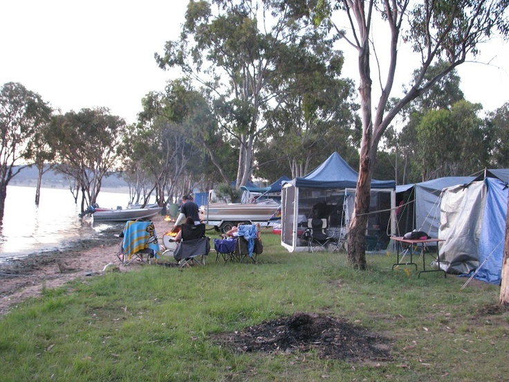 Camping - Lesley Dam QLD Aust. Such a great place to camp and water ski :-)