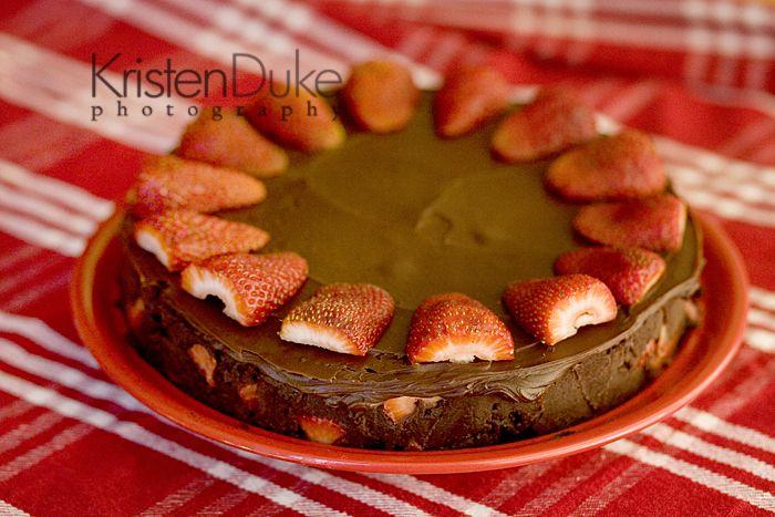 Fudge Lovers Strawberry Truffle Cake Recipe - make this for Valentine's Day Dessert | KristenDuke.com