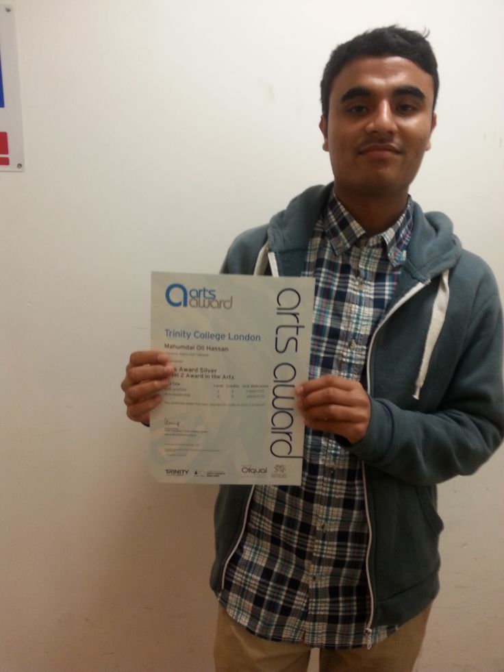PAYP participant recieving his Arts Awards Silver. Well done to Oli!