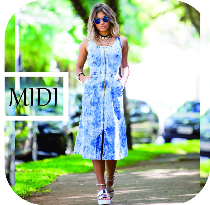 Vestido Midi Maravilhoso com detalhe de ziper frontal. Moda e estilo você só encontra na ilsole. Adc no instagram @ilsoleoficial ou envie msg via WatsaAp (11) 95704-5593