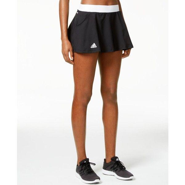adidas Club Tennis Skort ($40) ❤ liked on Polyvore featuring activewear, activewear skirts, golf skirts, white skort, adidas activewear, adidas sportswear and adidas skort