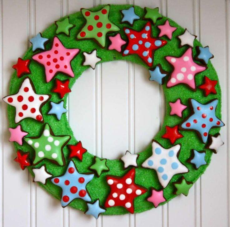 Regali di Natale per una sorellina fai da te - Ghirlanda verde