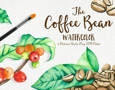 """Check out new work on my @Behance portfolio: """"Watercolor Coffee Bean"""" http://be.net/gallery/34877695/Watercolor-Coffee-Bean"""
