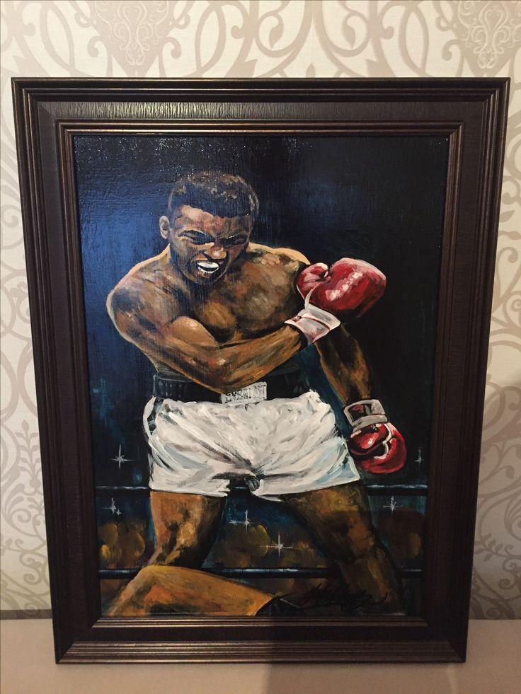 Закончил свою картину, жаль камера не передаёт всех красок:/ Muhammad Ali. Продаётся,хороший подарок спортсмену или просто фанату. По всем вопросами ЛС или по номеру 8-982-280-57-87