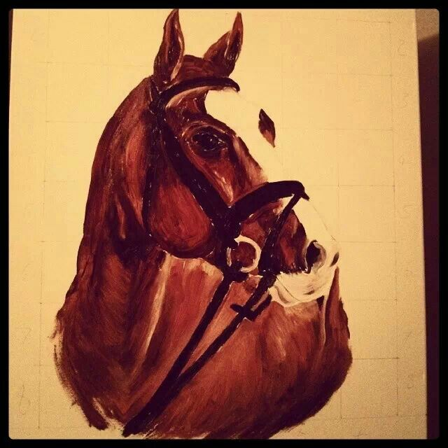 My new horse paint; under construction!