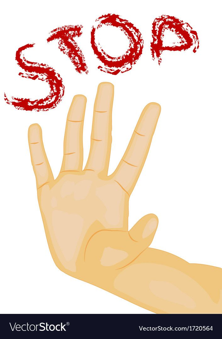 Hand Stop Humah Hand Isolated On White Download A Free Preview Or High Quality Adobe Illustrator Ai Eps Pdf And High Kids Art Projects Art For Kids Clip Art