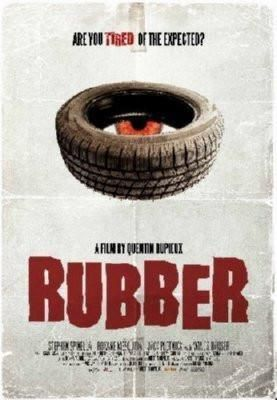 Rubber Movie poster Metal Sign Wall Art 8in x 12in