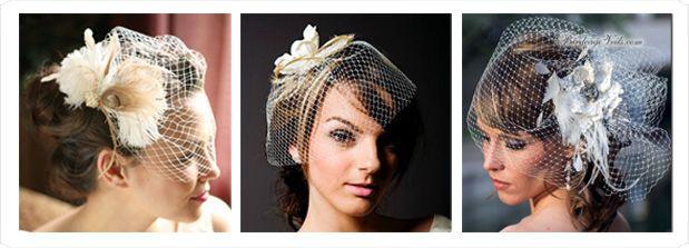 Birdcage Veils for the Glamorous Bride