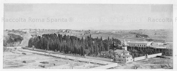 La Piramide di Caio Cestio, il Cimitero Acattolico e l'annessa chiesa Anno: Primi '900