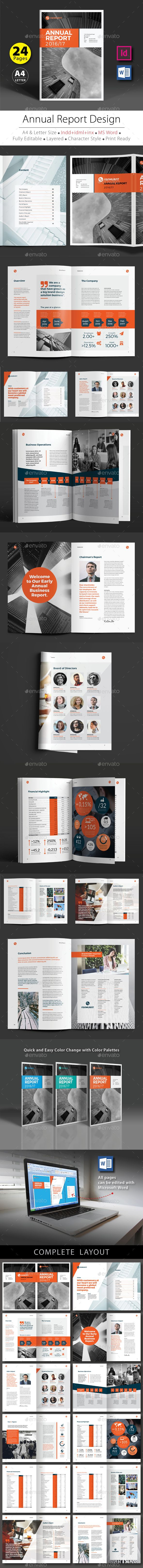 Annual Report Design Template InDesign INDD