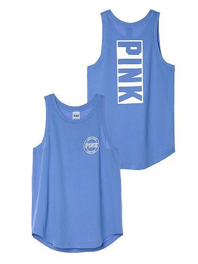 Rib Neck Muscle Tank - PINK - Victoria's Secret
