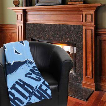 """North Carolina Tar Heels 50"""" x 60"""" Painted Fleece Blanket"""