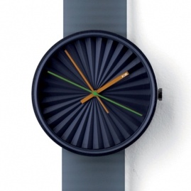 Nice design, lovely color choice. (Plicate by Benjamin Hubert for Nava)  #men #style #watch