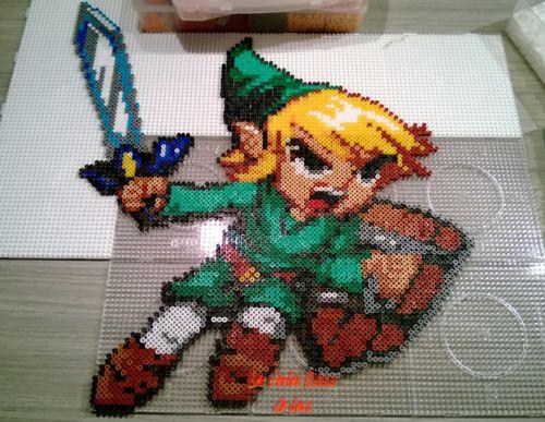 Link - Zelda hama perler beads by Jessica Bartelet - Les perles Hama de Jess