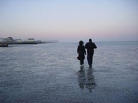 Bognor Regis - Walking on the sand low-tide early evening Bognor Regis © Gary Standen