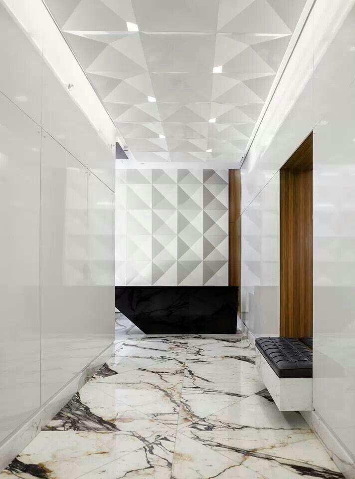 elegant white marble hallway #interior #design #commercial