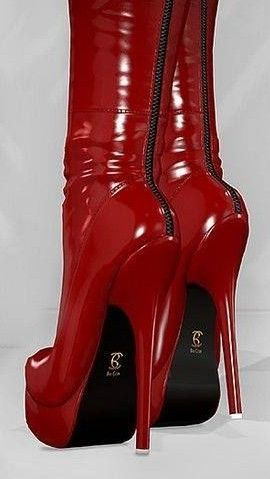 Lady's sexy boots with stiletto heels