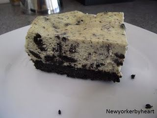 Cookies and cream cheesecake bars……………