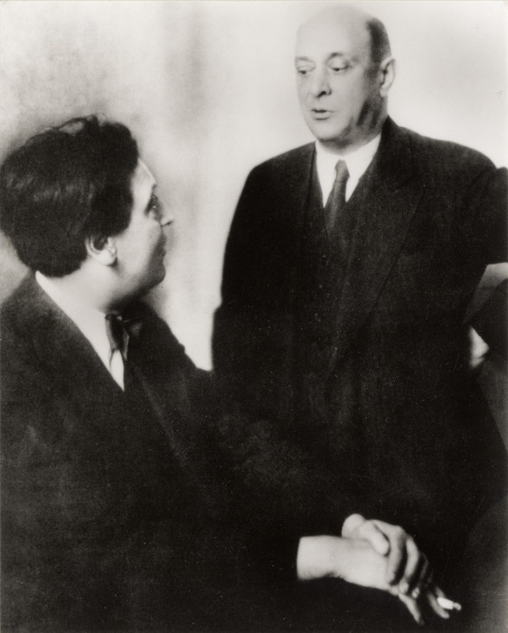 Austrian composers Alban Berg & Arnold Schoenberg.  Two composer whom Gottesmann performed for in Vienna.