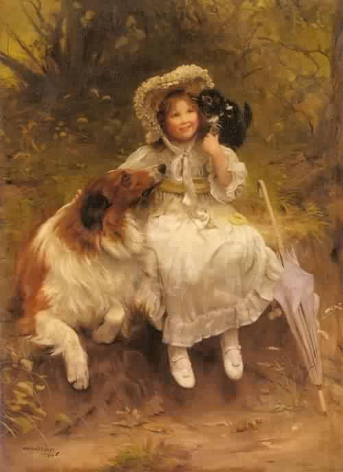 He Wont Hurt You | Arthur John Elsley | oil painting